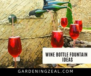 wine bottle fountain